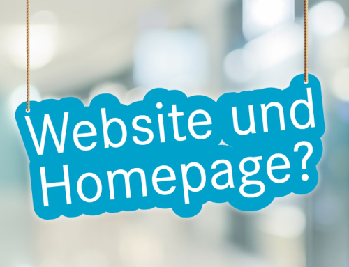 Website oder Homepage?